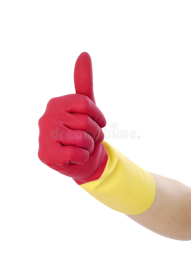 Glove For Cleaning Making royalty free stock photography