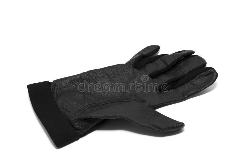 Glove. Leather glove in black stock image