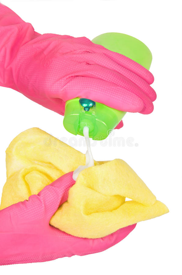 Download Gloved hands stock photo. Image of liquid, product, hygiene - 20716066