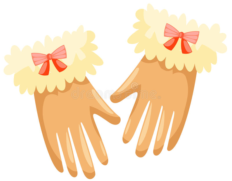 Download Gloves stock vector. Image of girl, decorate, festive - 17492415