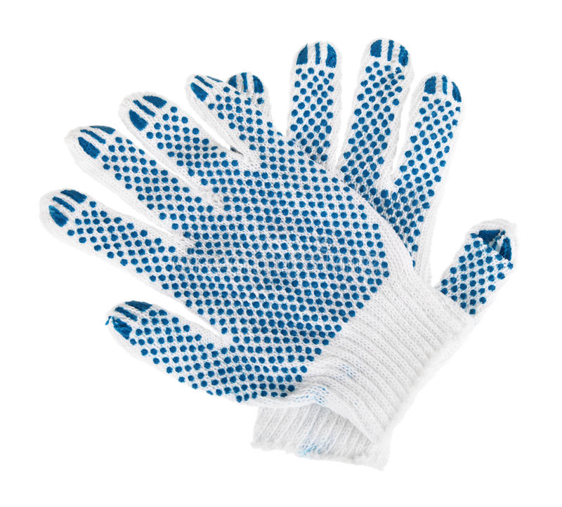 Gloves. Working gloves, isolated on white background royalty free stock photo