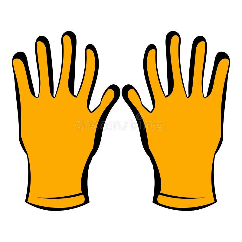 Gloves of beekeeper icon, icon cartoon royalty free illustration