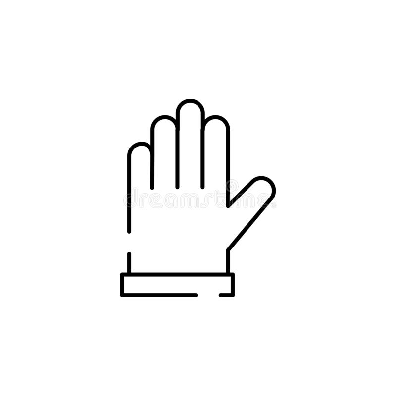 Gloves for work icon. Element of construction for mobile concept and web apps illustration. Thin line icon for website design and. Development, app development royalty free illustration
