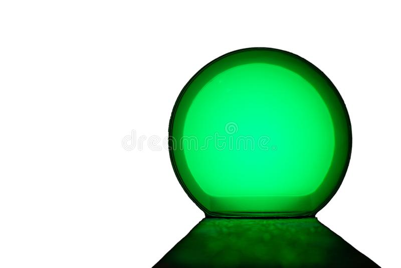 Glow ball and light the path on an isolated white background royalty free stock photography