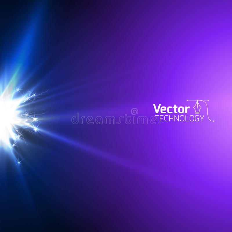 Glow discharge electricity. And vector illustration royalty free illustration