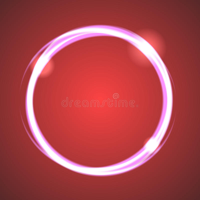 Glow effect eclipse circle vector. stock illustration