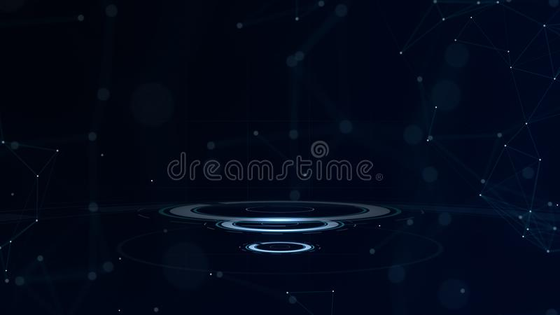 Glow effect. Glint galaxy. Abstract circles. Power energy. Glare tape. Luminous ring. Neon lights cosmic abstract frame. Neon lights cosmic abstract frame vector illustration