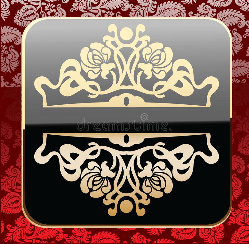 Download Glow Gold Ornate Over Vibrant Wallpaper Stock Vector - Image: 15833182