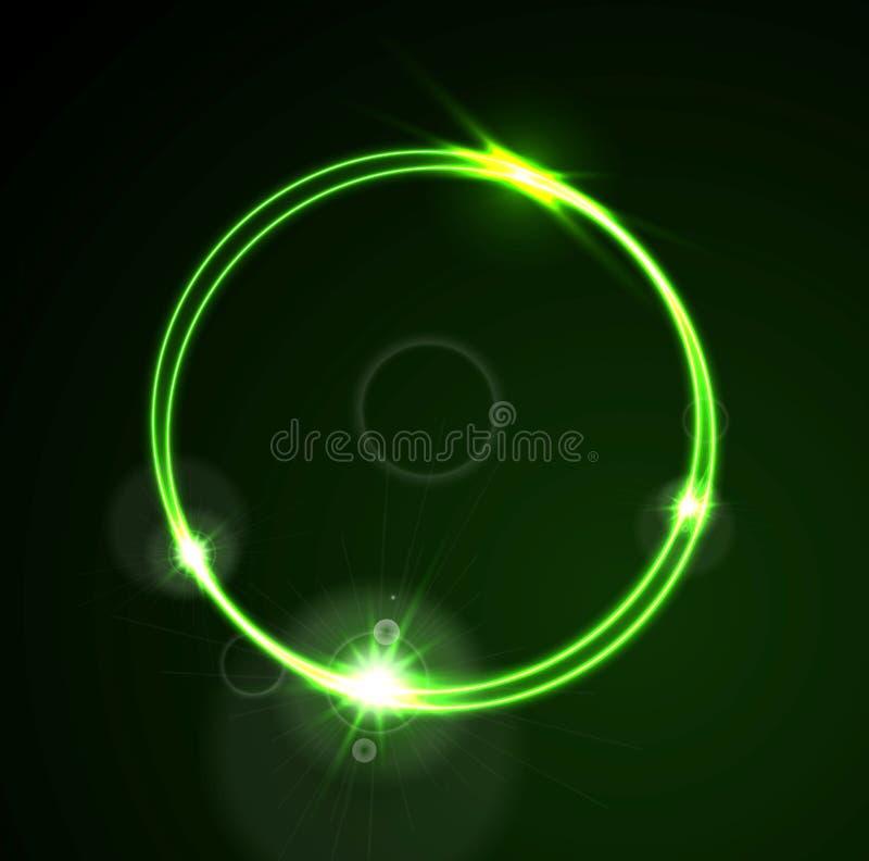 Free Glow Green Neon Vector Ring Shiny Template Design Stock Photos - 77835793