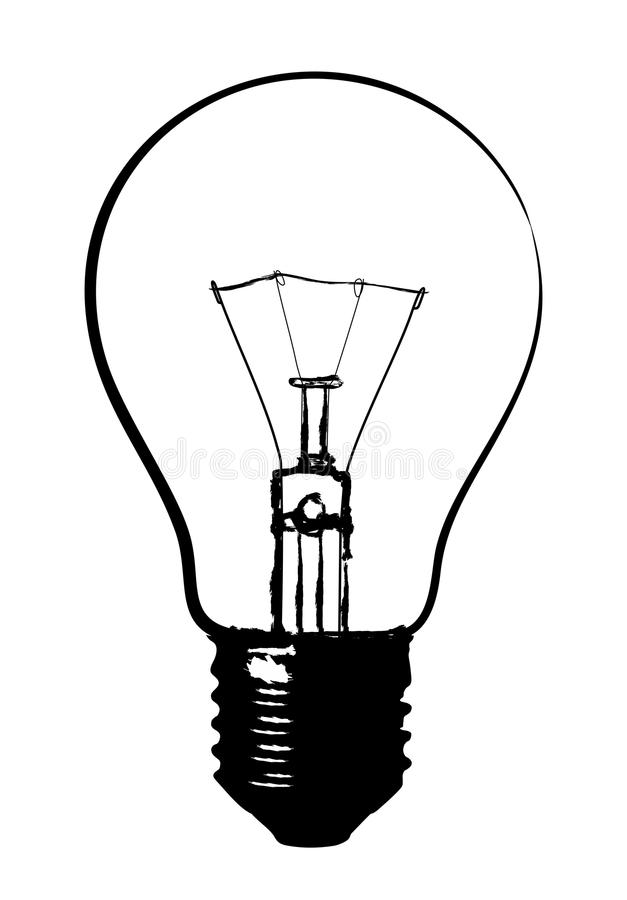 glow lamp logo  stock vector