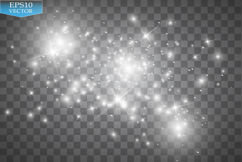 Glow light effect. Cloud of glittering dust. Vector illustration. Christmas vector illustration