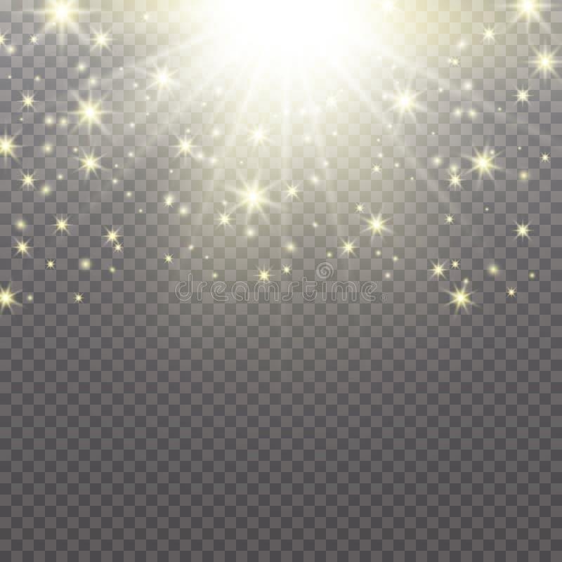 Glow light effect. Cloud of glittering dust. Vector illustration. Christmas flash Concept vector illustration