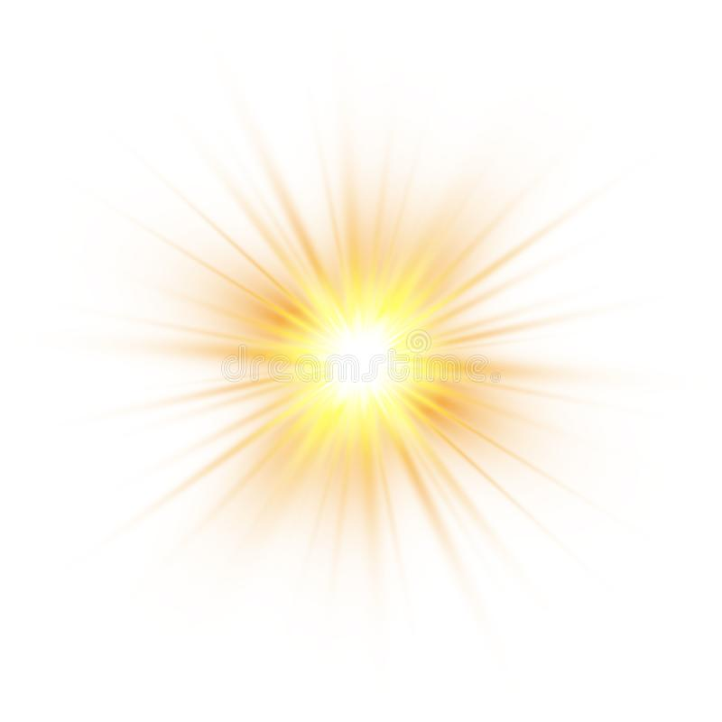Glow light effect, explosion, glitter, spark, sun flash. Vector illustration. Glow light effect, explosion, glitter, spark, sun flash. Vector illustration stock illustration