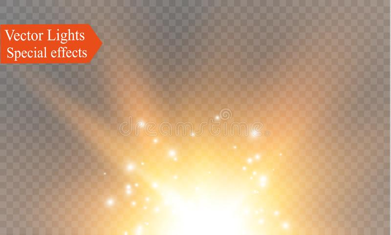 Glow light effect. Vector illustration. Christmas flash Concept. vector illustration