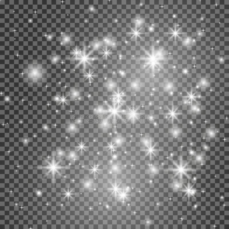 Glow light effect. Vector illustration. Christmas flash Concept. stock illustration