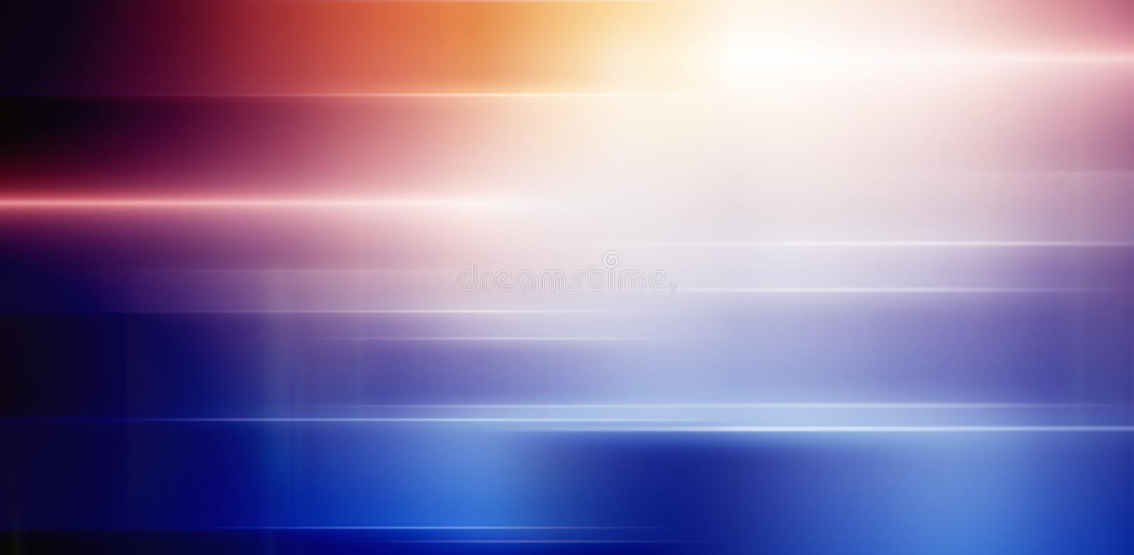 Glow lights. Abstract background - colored glowing light royalty free illustration