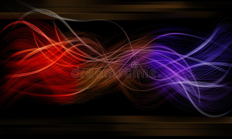Download Glow Like A Double Fiber And Effect Black Backgrou Stock Illustration - Image: 12544285
