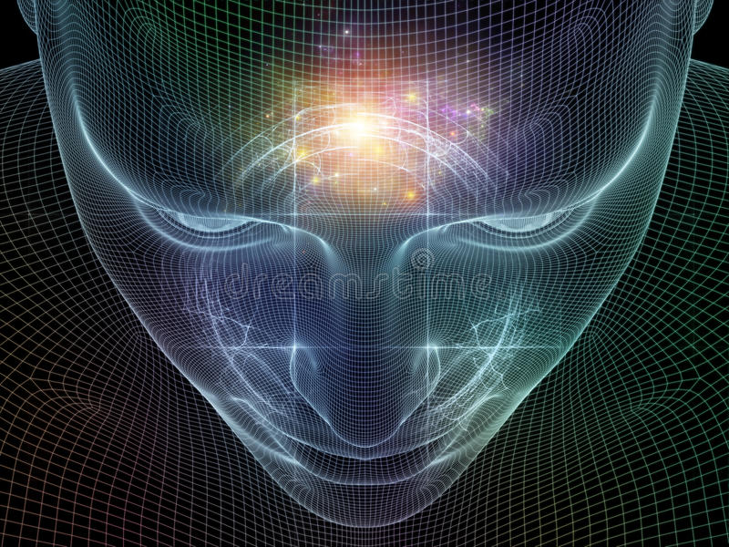Glow of the mind stock illustration