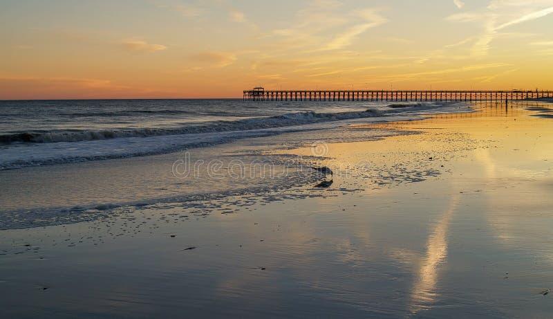 Sunset over Myrtle Beach stock photos