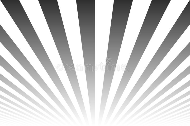 Glow shine striped abstract background. Similar to retro poster. Black and white lines pattern.  stock illustration