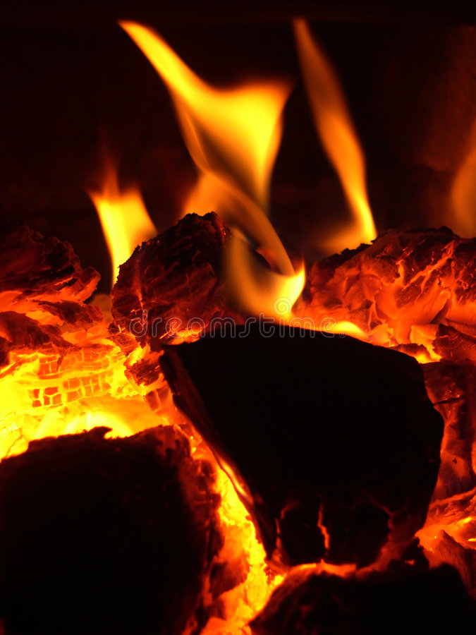 Glow in stove royalty free stock photos