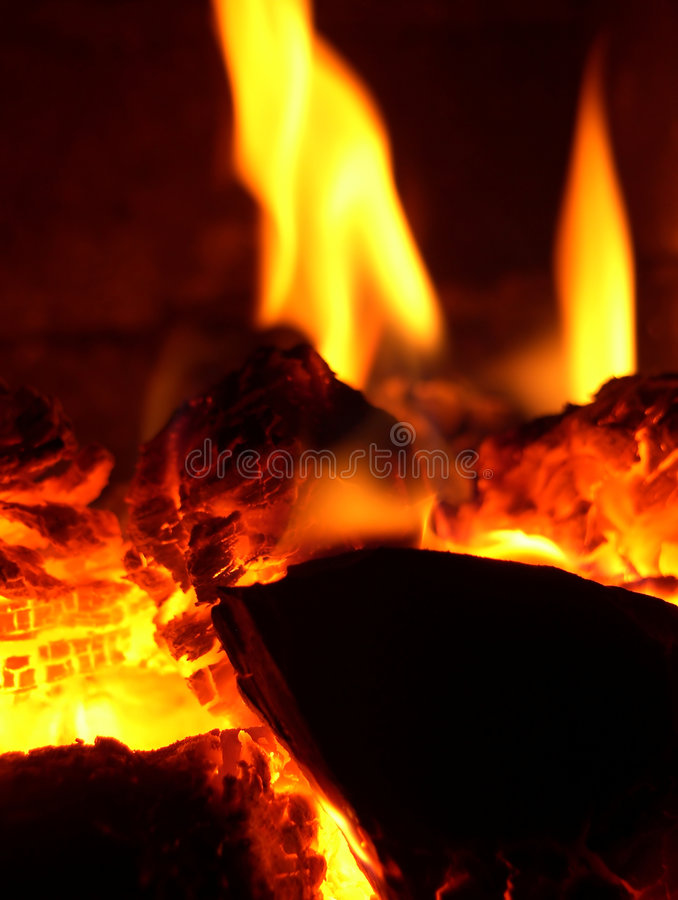 Glow in stove royalty free stock image