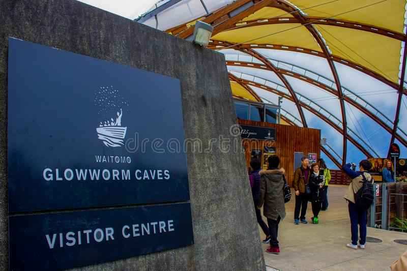 Glow Worm Caves Visitor Centre, Waitomo, New Zealand royalty free stock photography