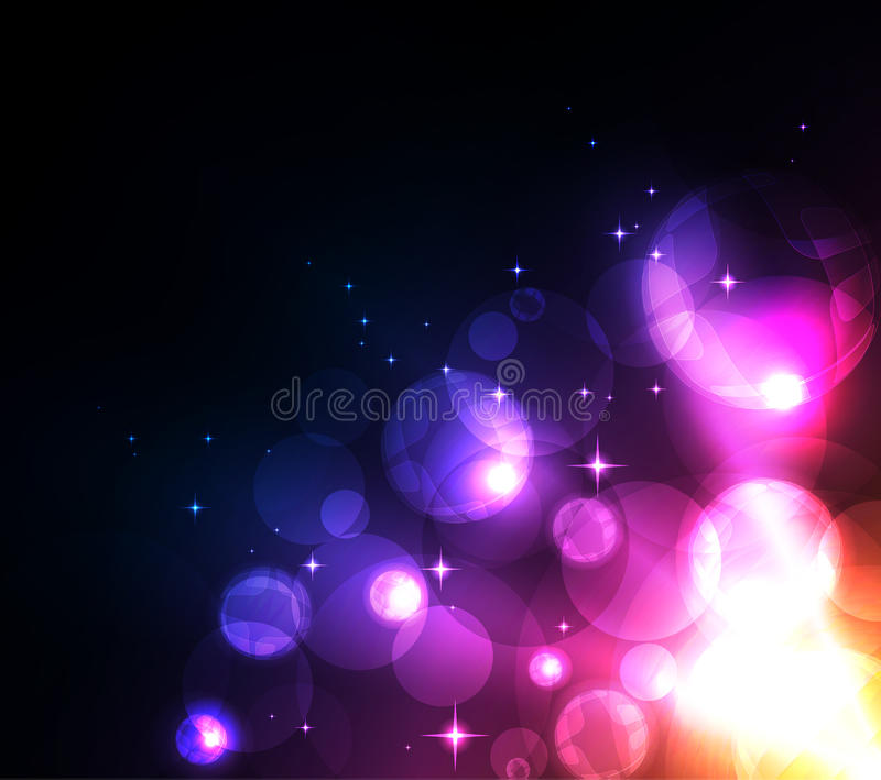 Glowing abstract background royalty free illustration