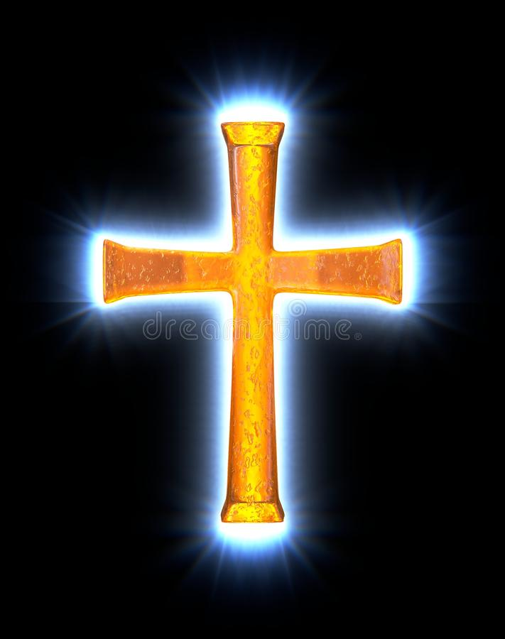Download Glowing amber cross stock illustration. Image of lutheran - 29249258