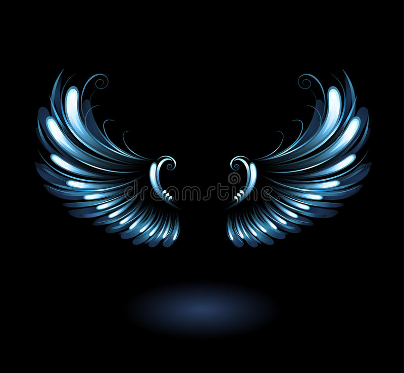 Free Glowing Angel Wings Stock Photography - 34236082
