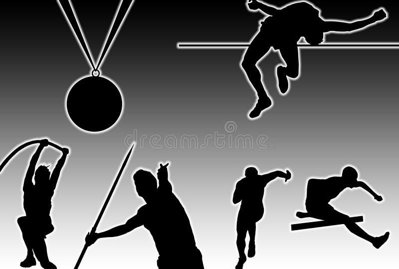 Glowing Athletics vector illustration