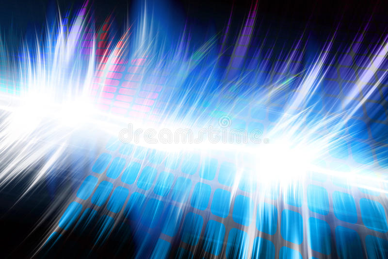 Glowing Audio Waveform Royalty Free Stock Photo