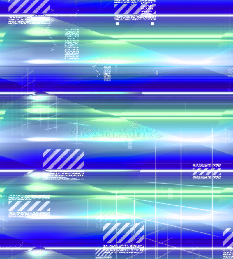 Glowing background, colorful blue, green, white and purple royalty free illustration