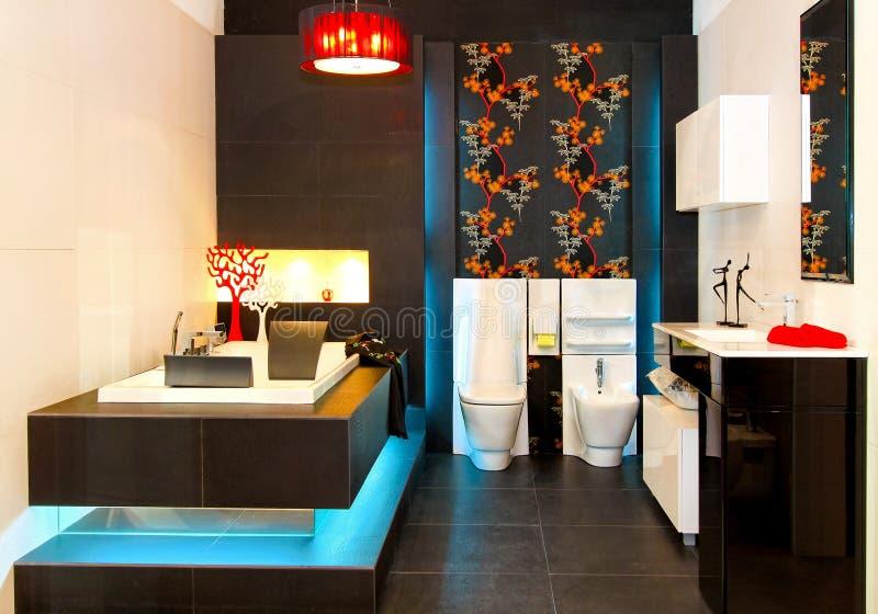 Glowing bathroom royalty free stock image
