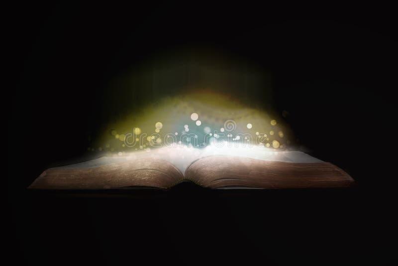 Glowing Bible royalty free illustration