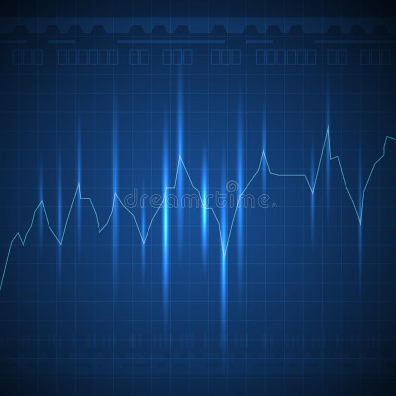 Free Glowing Blue Graph Line Going Up On Dark Background Royalty Free Stock Photos - 126850058