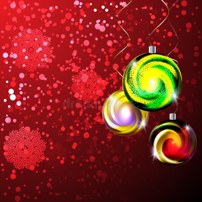 Free Glowing Christmas Balls Stock Photography - 43790992