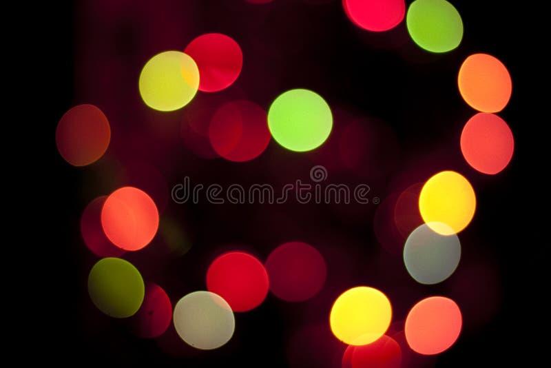 Glowing Christmas Lights Stock Photography