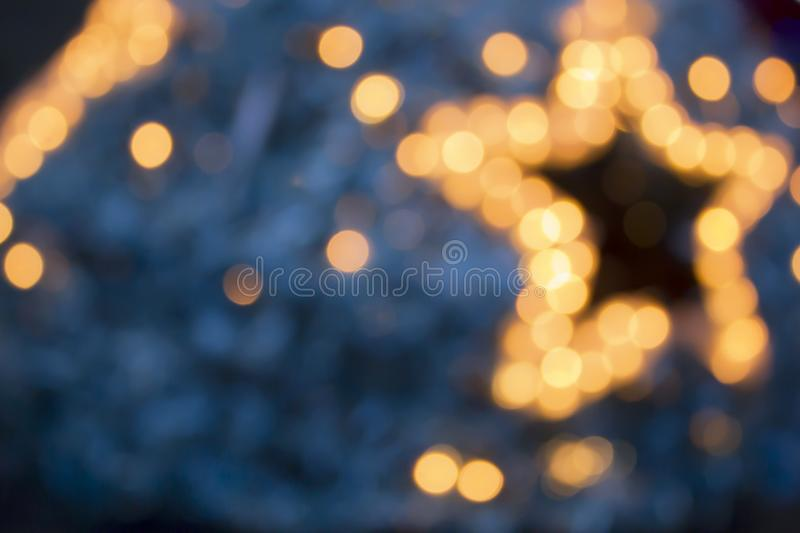 Glowing Christmas lights design elements. Garlands, New year decorations lights effects stock photography