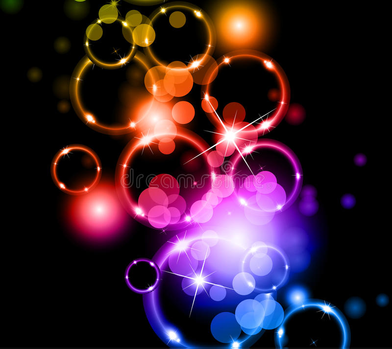 Download Glowing Circles of llight stock vector. Image of frame - 17004840