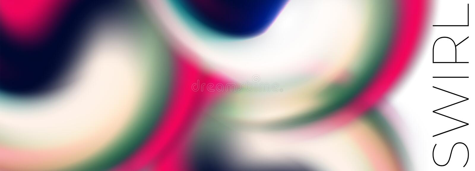 Glowing colorful Fluid swirl drop on white vector vector illustration