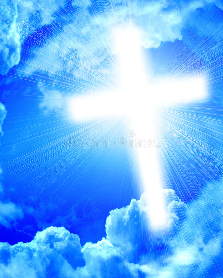 Download Glowing cross in sky stock image. Image of christ, christian - 23948093