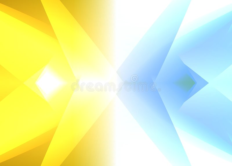 Glowing Crystal Abstract royalty free illustration