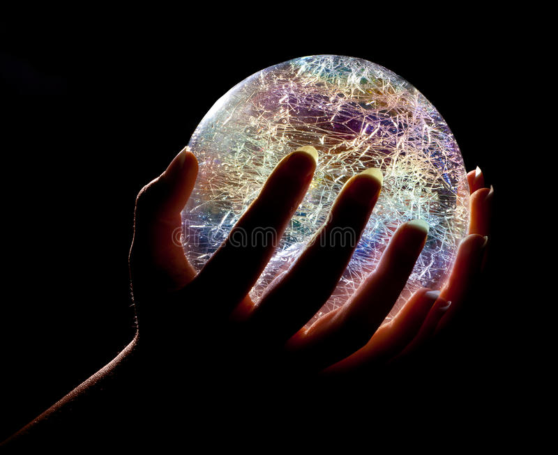 Download Glowing in the dark stock image. Image of beautiful, fortuneteller - 22279137