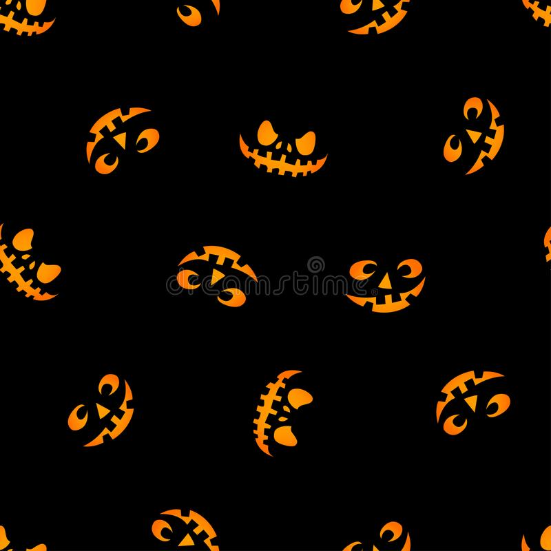 Glowing in the dark eyes vector. Haloween pattern. royalty free illustration
