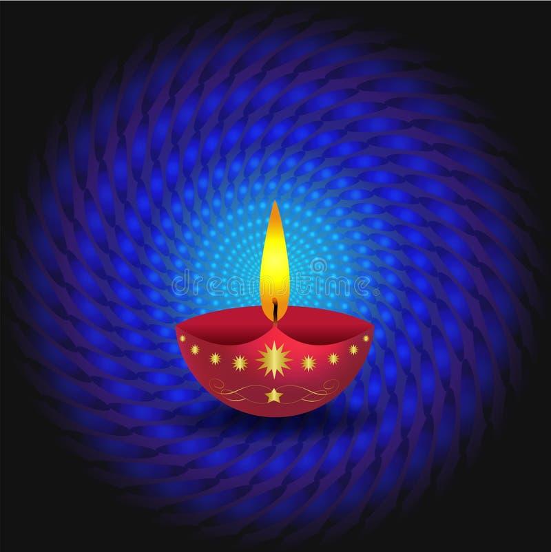Glowing Diwali Lamp Stock Photo
