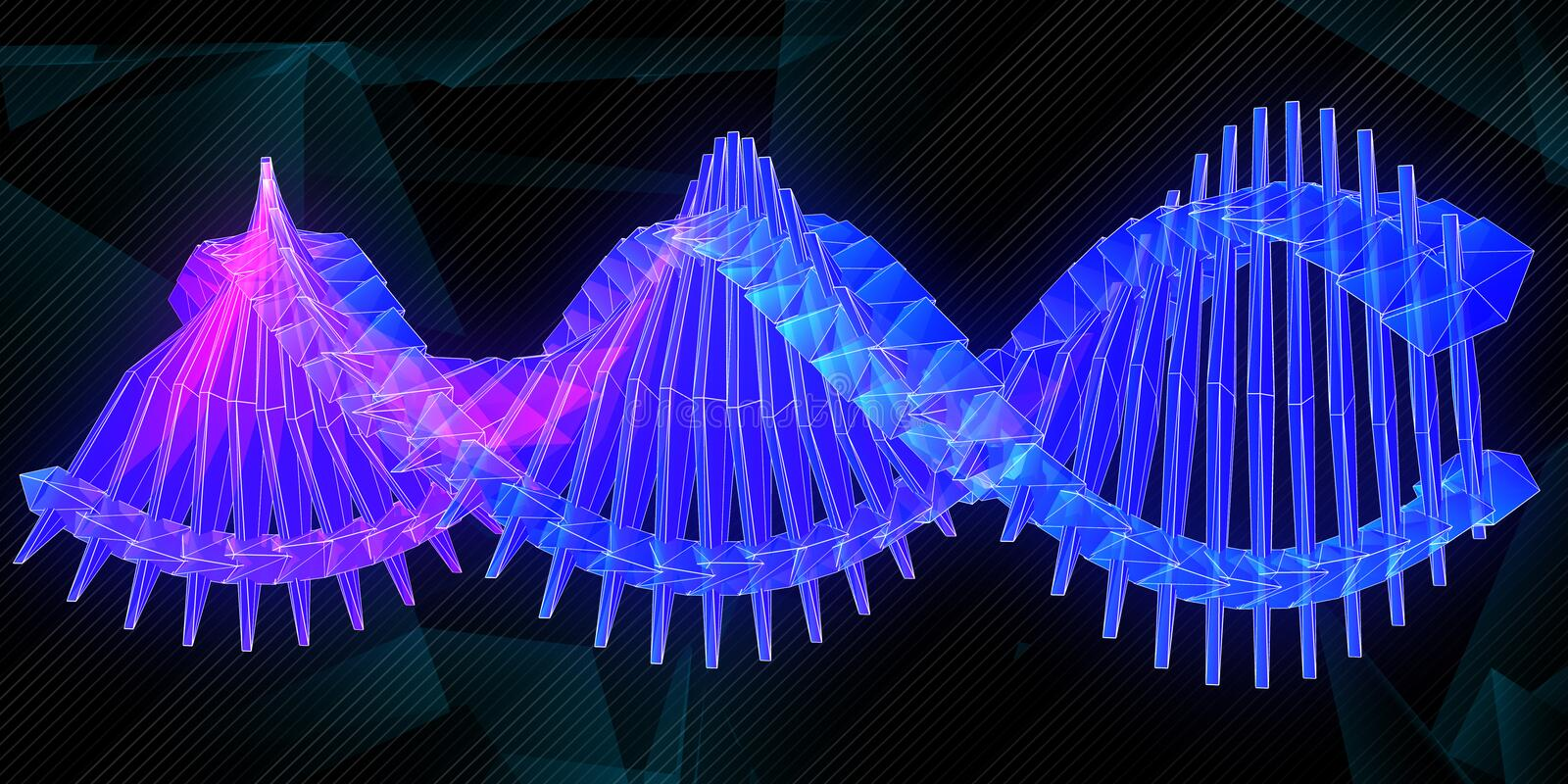 Glowing DNA background royalty free illustration