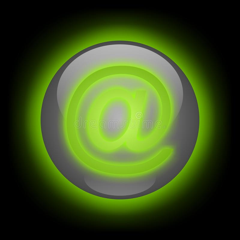 Download Glowing E-mail Button stock illustration. Illustration of mail - 13456781