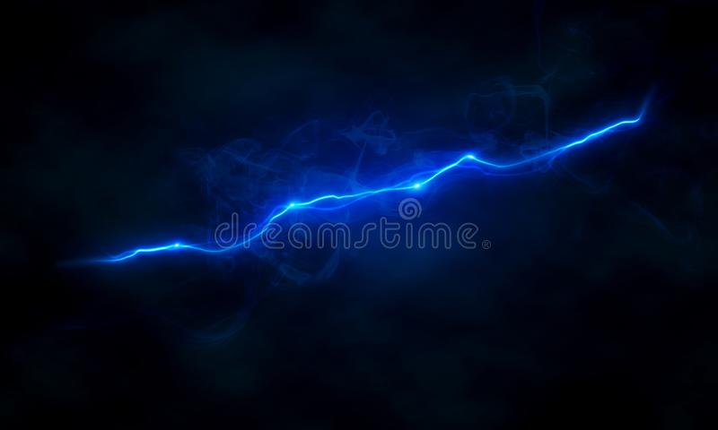 Glowing electrical discharge. On dark background royalty free illustration