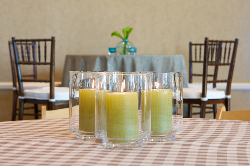 A glowing elegant centerpiece. An image of a glowing elegant centerpiece royalty free stock photo